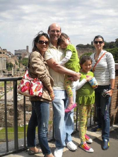 Andrea, Alon, their daughters and Stavi